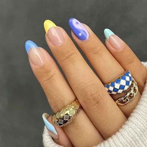 Pastel Yin And Yang Feature Nail Pretty Nails Amyle.nails