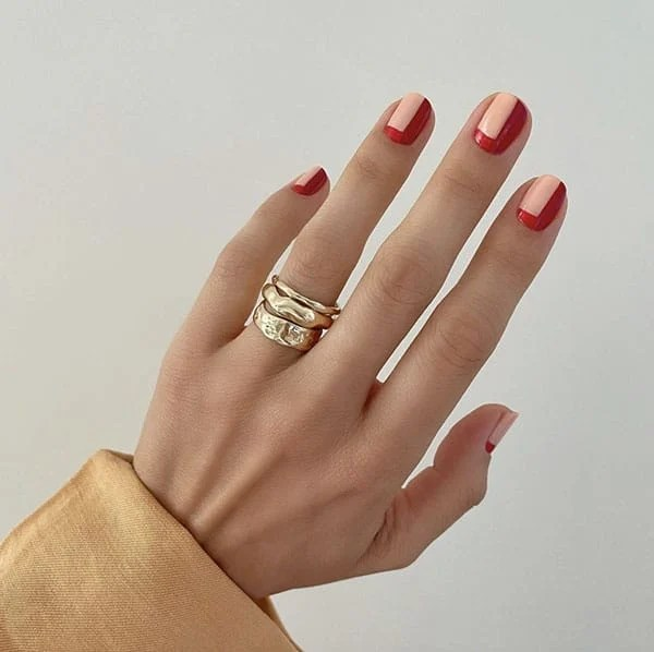 Pink And Red Design Pretty Nails Betina Goldstein