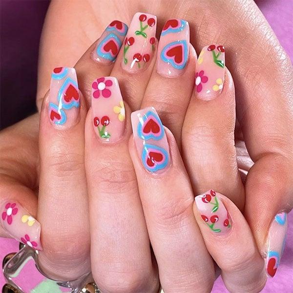 Pop Color Designs Pretty Nails Nailsbymh