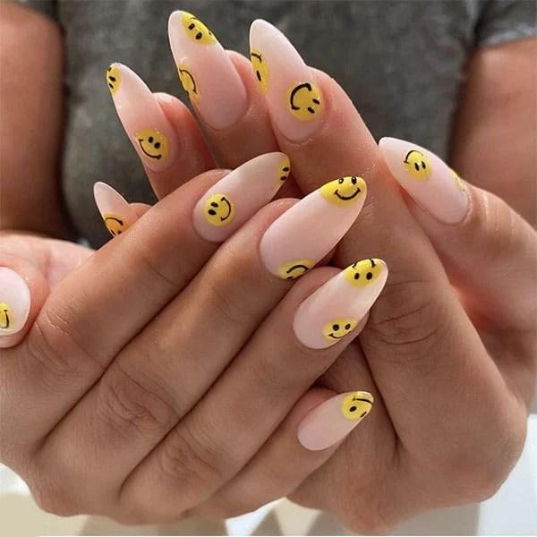 Smiley Face Art Nail Ideas Paintbucketnails