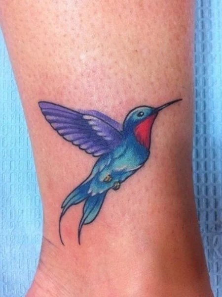 Blue Hummingbird Tattoo