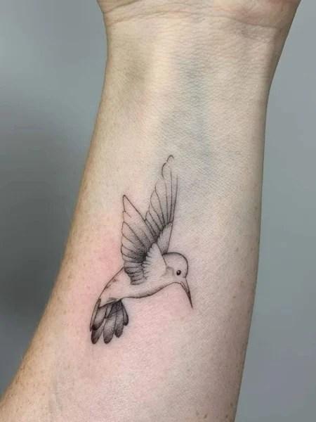 Simple Hummingbird Tattoo