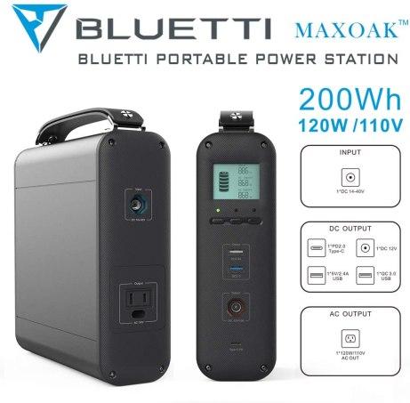 Bluetti AC20 input output ports