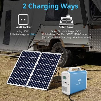 Bluetti EB240 Solar charging