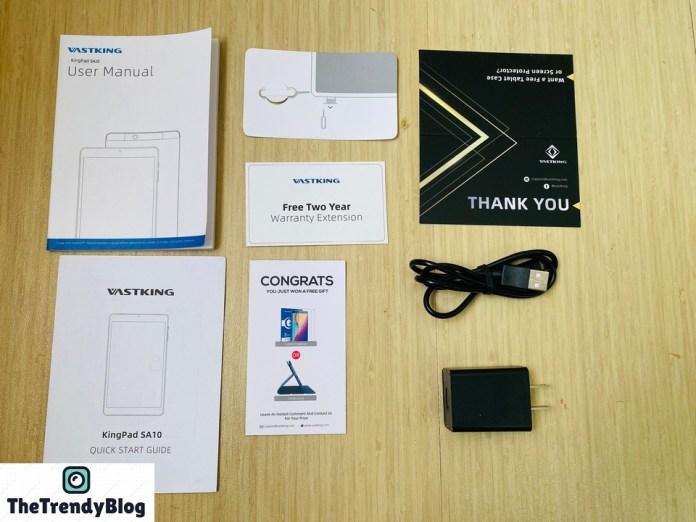 KingsPad SA10 Box Contents