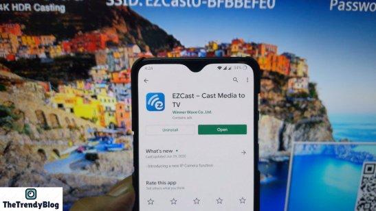 EZCast Ultra App features