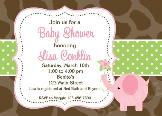 S Baby Shower Invitations Pink