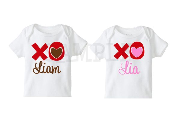 Personalized Kids Valentines Day T Shirt Custom Childs Tee