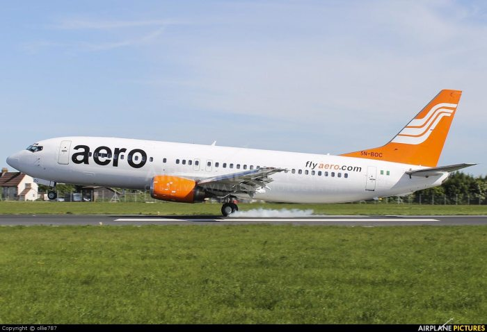 Aero Flight, Aero Contractors, Smoke fills cabin of Aero Contractors flight
