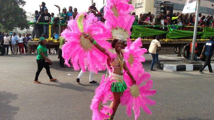 Efik dancers at the 2013 Calabar Carnival