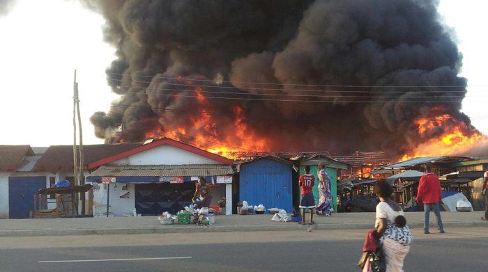 iponri market, market fire balogun market ibadan
