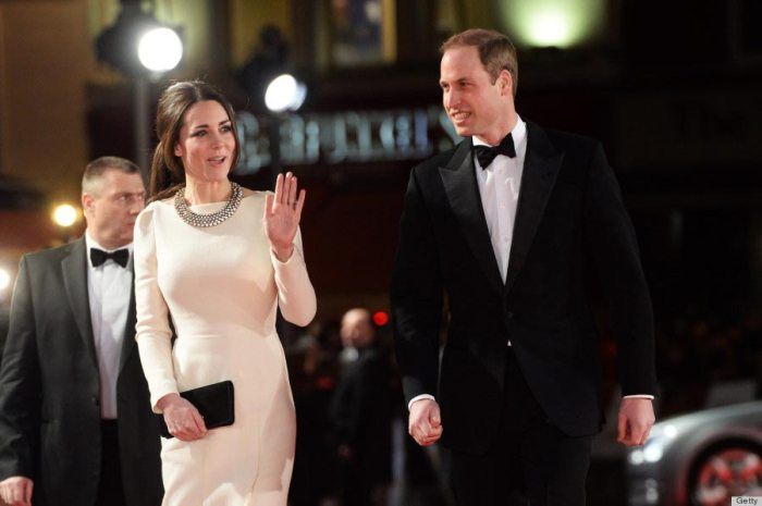 "Kate Middleton and Prince William attend the premiere of ""Mandela: Long Walk To Freedom"" at The Odeon Leicester Square on December 5, 2013."