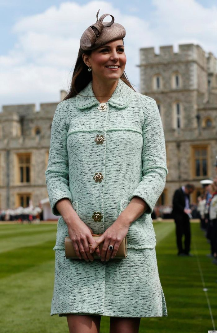 Kate Middleton attends the National Review of Queen's Scouts at Windsor Castle on April 21, 2013.