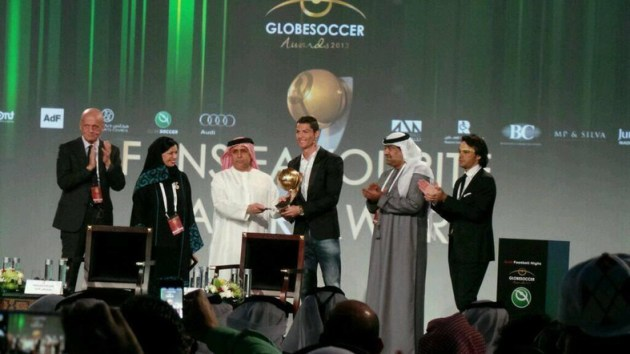 Ronaldo Receives Award The Trent