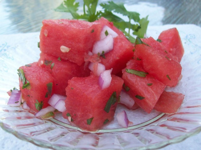 Watermelon Spicy Salad The Trent