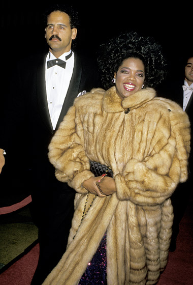 December 1987: Winfrey and longtime love Stedman Graham attended the Good Morning Vietnam premiere in L.A. (Photo Credit: Jim Smeal/WireImage.com )