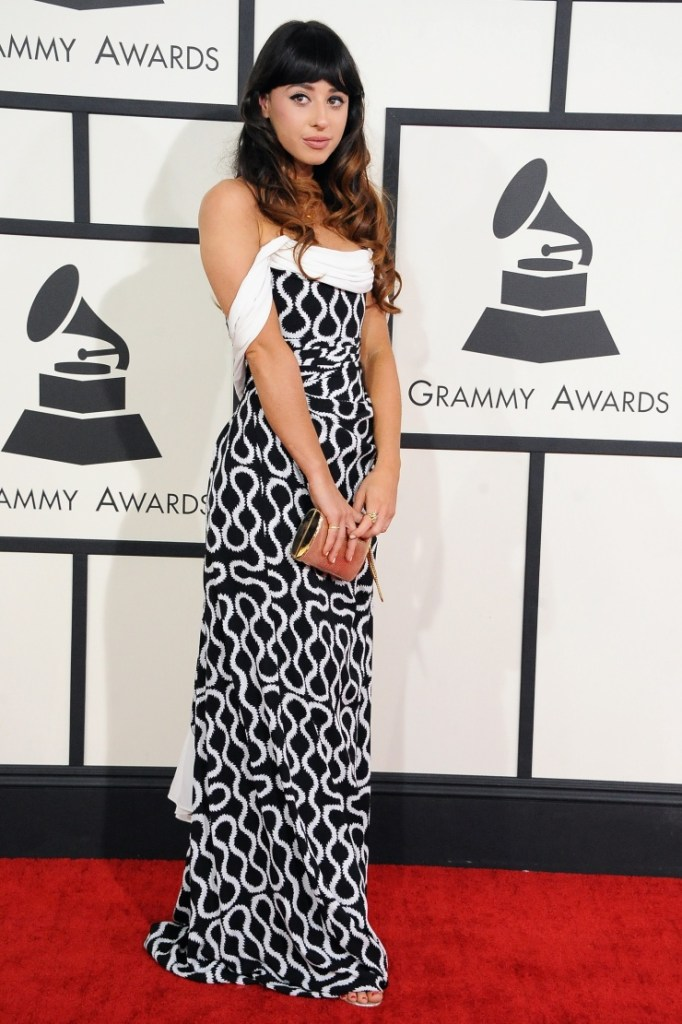 Nominee Foxes arrives at the 56th Annual GRAMMY Awards on Jan. 26 in Los Angeles (Photo Credit: Steve Granitz/WireImage.com)