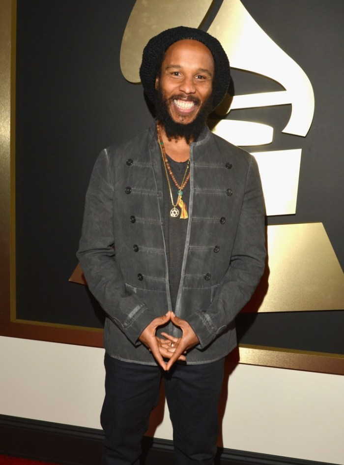 Best Reggae Album nominee Ziggy Marley arrives at the 56th Annual GRAMMY Awards on Jan. 26 in Los Angeles (Photo Credit: Lester Cohen/WireImage.com)