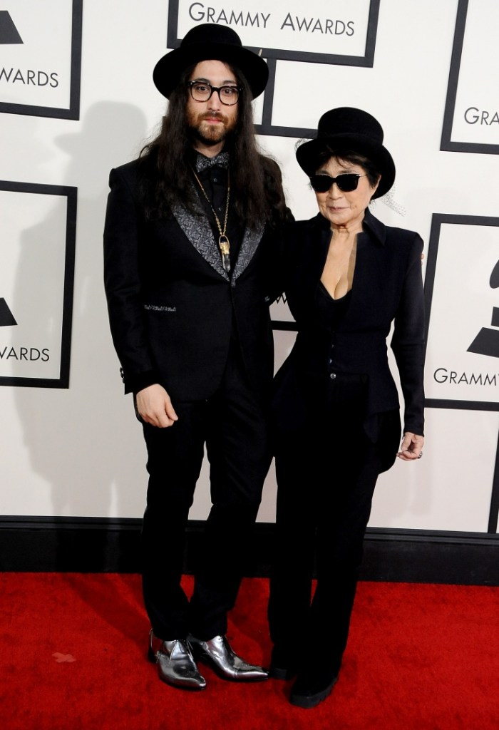Sean Lennon and Yoko Ono arrive at the 56th Annual GRAMMY Awards on Jan. 26 in Los Angeles (Photo Credit: Steve Granitz/WireImage.com)