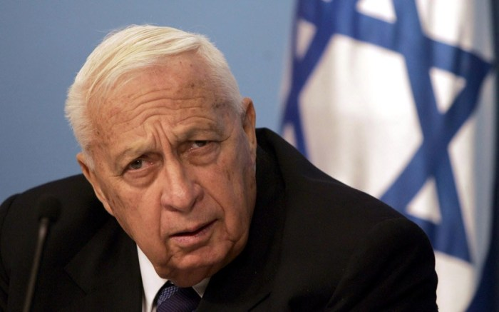 Ariel Sharon, the former prime minister of Israel (Picture: AFP/Getty Images)