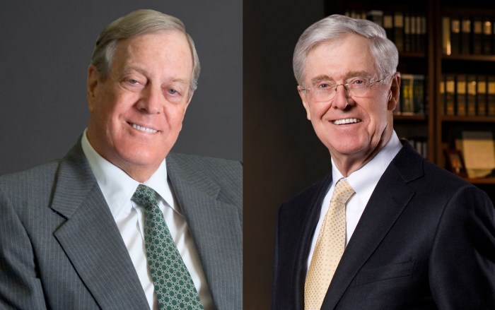 Charles Koch and David Koch The Trent