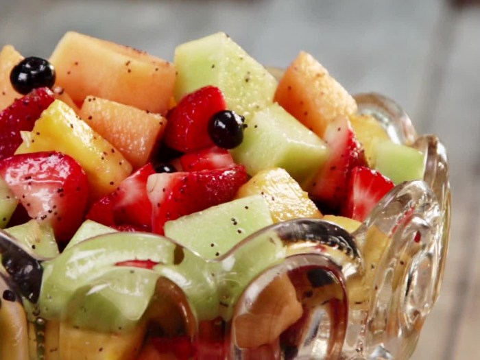 Fresh Fruit Salad with Poppy Seed Dressing by Paula Deen .