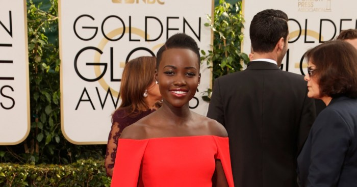 Lupita N'yongo at the 2014 Golden Globes