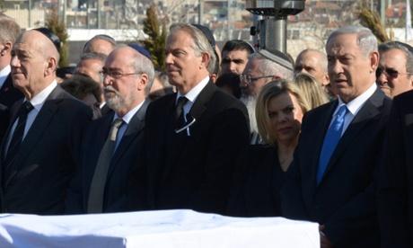 Tony Blair At Ariel Sharon Funeral The Trent