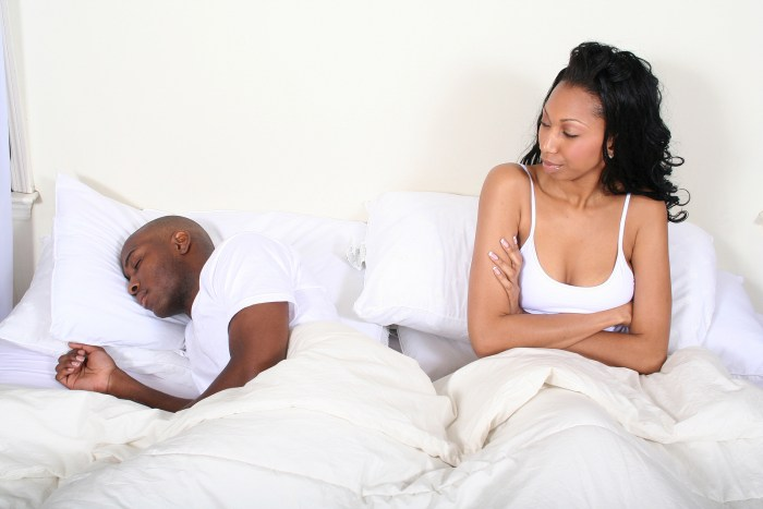 married bed bedroom couple unhappy angry love