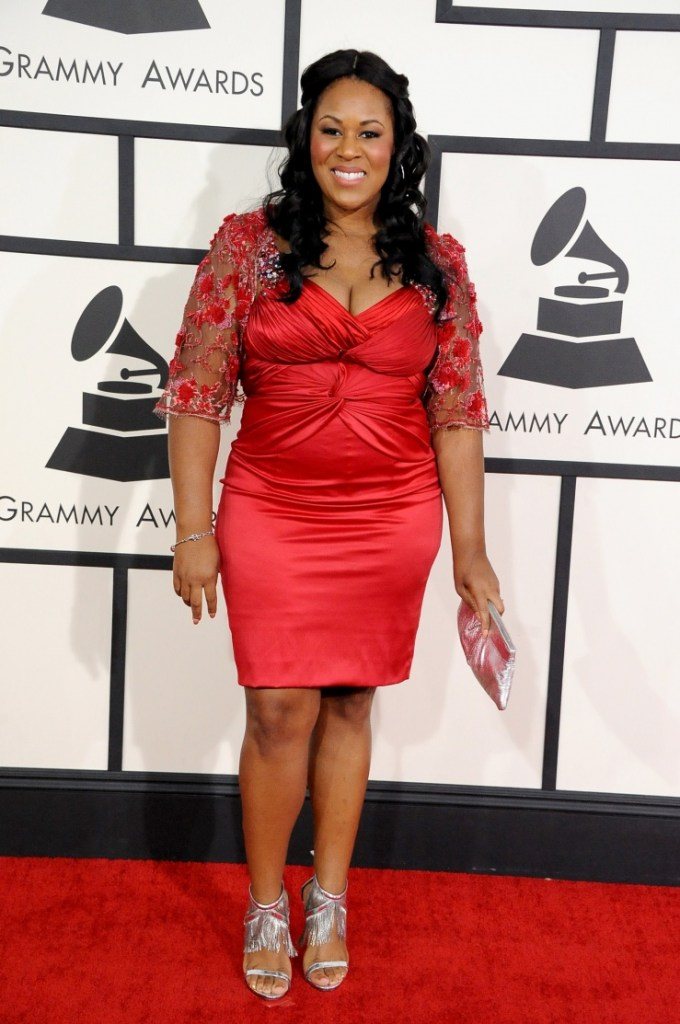 Best R&B Song nominee Makeba Riddick arrives at the 56th Annual GRAMMY Awards on Jan. 26 in Los Angeles (Photo Credit: Steve Granitz/WireImage.com)