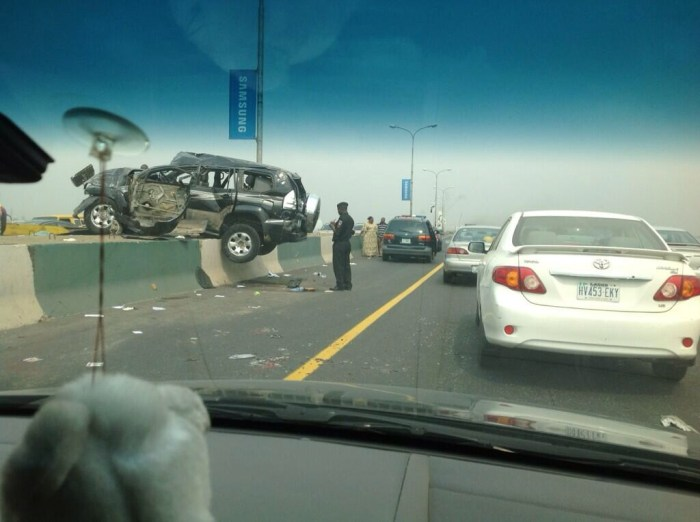 SAD PHOTO: Scene of the Accident credited to an eye-witness