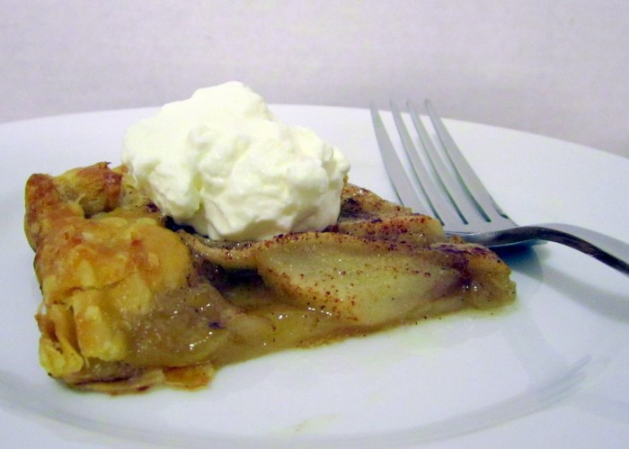 Honey-Glazed Apple Pear Tart the trent