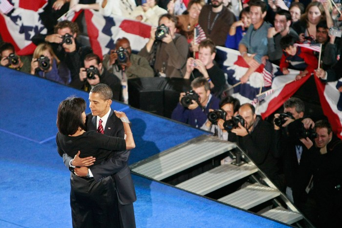 Michelle Obama hug The Trent Dance