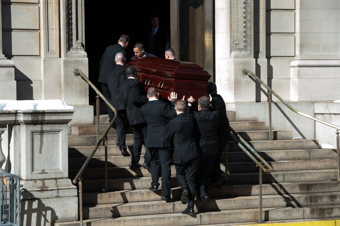 Philip Seymour Hoffman's Funeral (Photo Credit: Huffington Post)