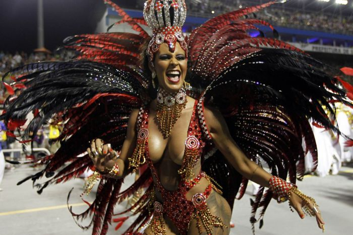 Carnival began on Friday and will continue until Shrove Tuesday - or 'Fat Tuesday' as it is called in Brazil (Photo Credit: Daily Mirror)