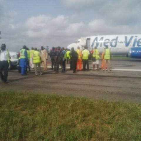 Med View Plane developed technical fault shortly after take off