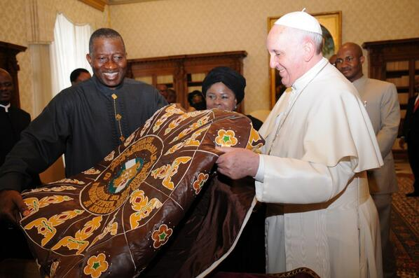 A gift for the Pope from President Jonathan, Vatican City | Photo: Reuben Abati