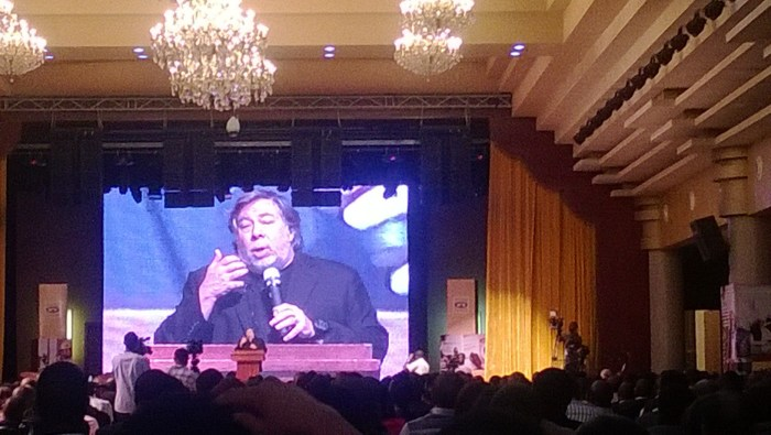 Steve Wozniak at the MTN Leadership Summit, March 4, 2014 at Oriental Hotel, Lagos