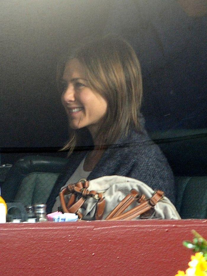 Jennifer Aniston is seen filming 'Cake' in Los Angeles