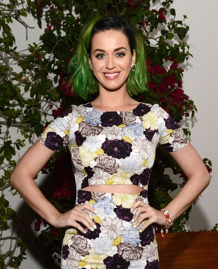 Katy Perry attends the Congressional candidate Marianne Williamson press event in Los Angeles
