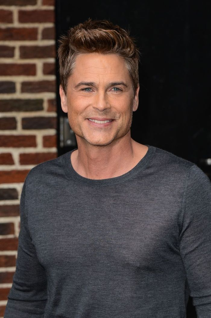 "Actor Rob Lowe leaves the ""Late Show With David Letterman"" taping at the Ed Sullivan Theater in New York City"