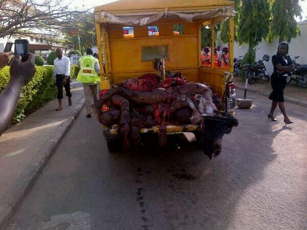 Bodies from Abuja bomb blast on April 14, 2014