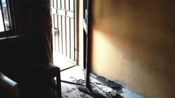 part of the vandalized FRSC office