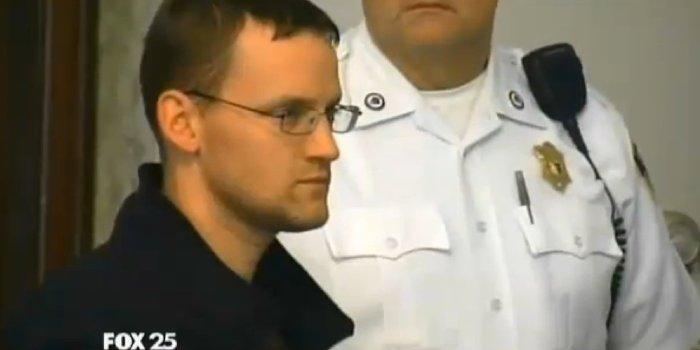 Brian McBride pictured in court