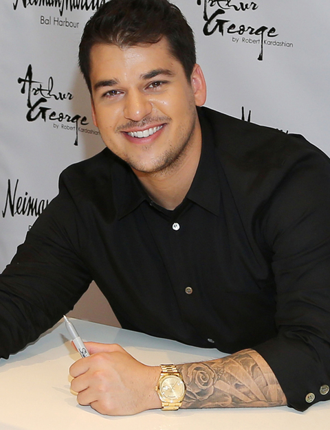 Rob Kardashian presents his Arthur George Socks Collection at Neiman Marcus Bal Harbour at Neiman Marcus on December 10, 2012 in Miami Beach, Florida. (Photo Credit: Alexander Tamargo/Getty Images)
