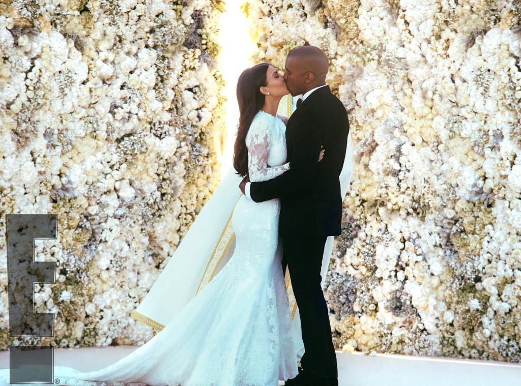 Photos Kim Kardashian And Kanye West Share Unseen Wedding Snaps