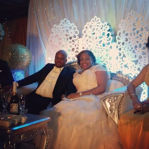 Bride and Groom (Photo: Linda Ikeji)