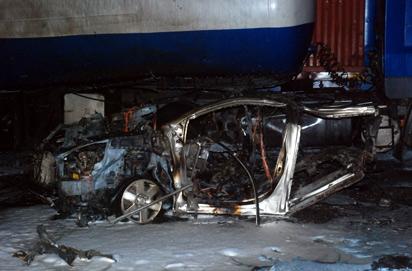 The scene of the blast at Apapa. (Photo Credit: Vanguard)