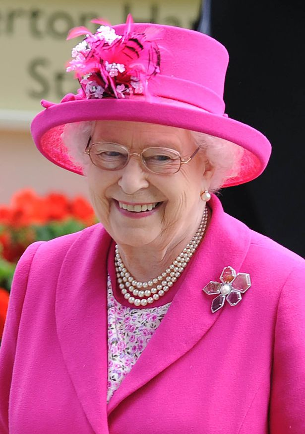 Hats nice: Queen at races today