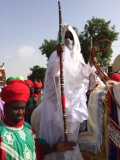 The Emir riding on a horse (Photo Credit: Sahara Reporters)